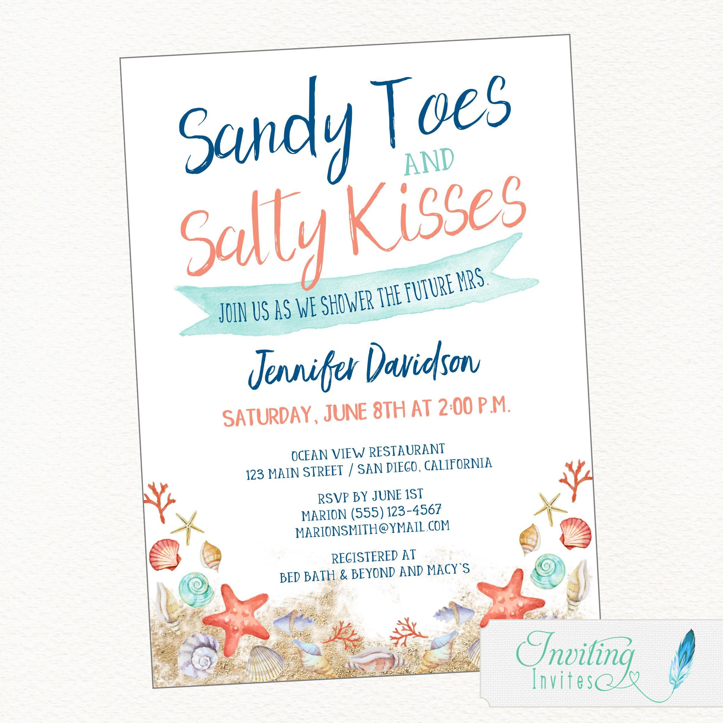 Beach bridal shower sandy toes salty kisses sandy toes salty kisses its time to shower the future mrs filmwisefo
